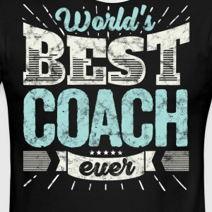 Cool family gift shirt: World's best coach ever - Men's Ringer T-Shirt