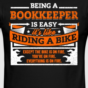 Bookkeeper Shirt: Being A Bookkeeper Is Easy - Men's Ringer T-Shirt
