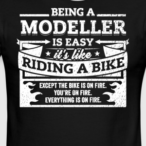 Modeller Shirt: Being A Modeller Is Easy - Men's Ringer T-Shirt