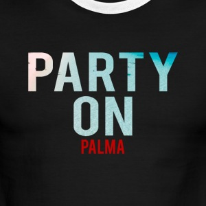 Party on Palma Beach-Party-Holiday-Summer - Men's Ringer T-Shirt