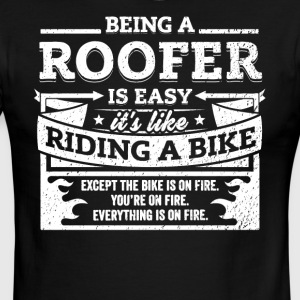 Roofer Shirt: Being A Roofer Is Easy - Men's Ringer T-Shirt