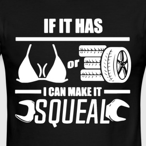 If it has car i can make it squeal - Men's Ringer T-Shirt