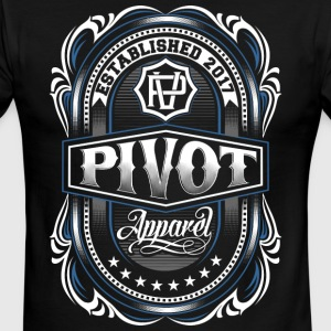 PIVOT APPAREL crest - Men's Ringer T-Shirt