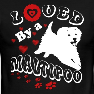 Loved By A Maltipoo Shirt - Men's Ringer T-Shirt