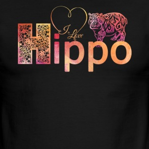 I Love Hippo Shirt - Men's Ringer T-Shirt