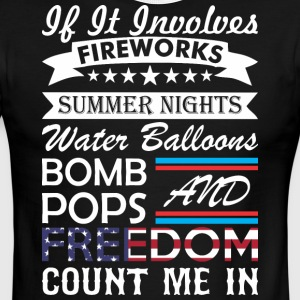 If It Involve Fireworks Summer Nights Count Me In - Men's Ringer T-Shirt