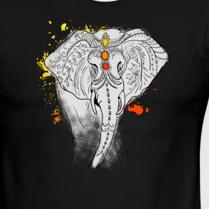 elephat yoga mandala india splash jewels meditatio - Men's Ringer T-Shirt