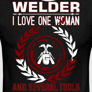 Welder I Love One Woman Several Tools - Men's Ringer T-Shirt