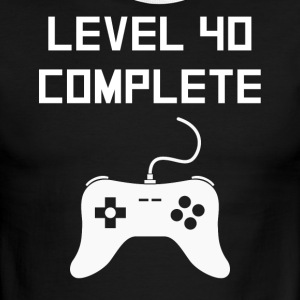 Level 40 Complete Video Games 40th Birthday - Men's Ringer T-Shirt