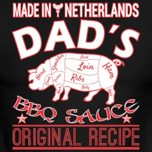 Made In Netherlands Dads BBQ Sauce Original Recipe - Men's Ringer T-Shirt