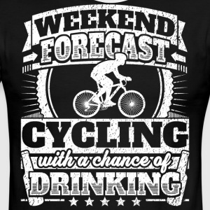 Weekend Forecast Cycling Drinking Tee - Men's Ringer T-Shirt