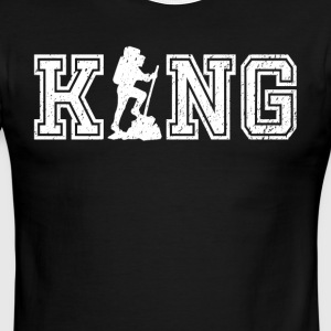 King of Hiking graphic hiker shirt - Men's Ringer T-Shirt