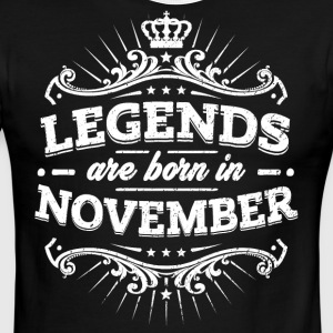 Legends Are Born In November Birthday Shirt - Men's Ringer T-Shirt