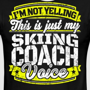 Funny Skiing coach: My Skiing Coach Voice - Men's Ringer T-Shirt
