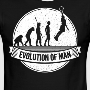 Basketballer Graphic Basketball Evolution Bball - Men's Ringer T-Shirt