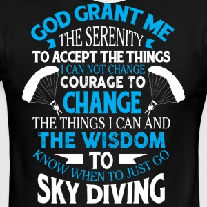 Just Go Sky Diving T Shirt - Men's Ringer T-Shirt