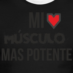 My strongest muscle is my heart, take care of it - Men's Ringer T-Shirt