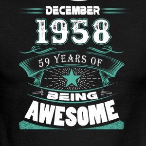 December 1958 - 59 years of being awesome - Men's Ringer T-Shirt
