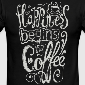 Happiness begins after coffee - Men's Ringer T-Shirt