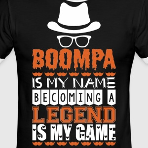 Boompa Is My Name Becoming A Legend Is My Game - Men's Ringer T-Shirt