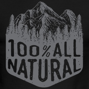 Natural hair - 100% All Natural mountain hiking - Men's Ringer T-Shirt