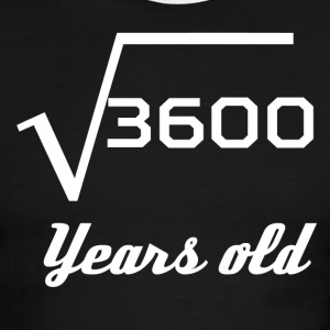 Square Root Of 3600 60 Years Old - Men's Ringer T-Shirt