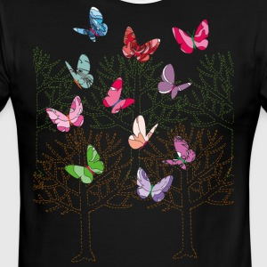 Butterfly Forest - Men's Ringer T-Shirt