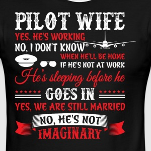 Pilot Wife T Shirt - Men's Ringer T-Shirt