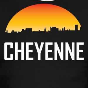 Cheyenne Wyoming Sunset Skyline - Men's Ringer T-Shirt