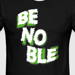 Be Noble Chalk Design - Men's Ringer T-Shirt