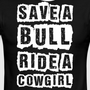Save A Bull Ride A Cowgirl - Men's Ringer T-Shirt
