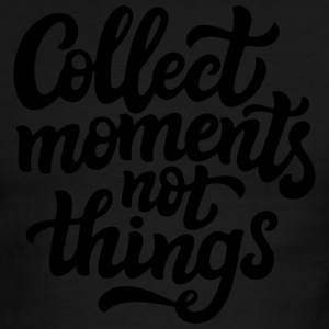 Collect moments not things - Men's Ringer T-Shirt