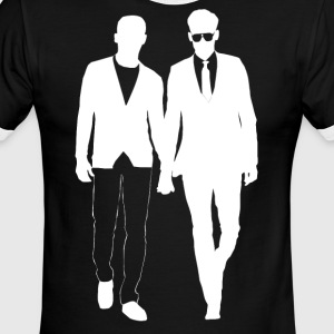 Guys holding hands gay men from Bent Sentiments - Men's Ringer T-Shirt