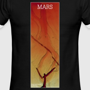 Mars - Fissure and Channel: Red - Men's Ringer T-Shirt