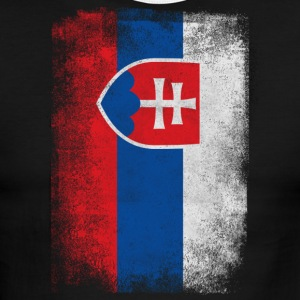 Slovakia Flag Proud Slovakian Vintage Distressed - Men's Ringer T-Shirt