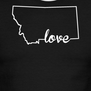 Montana Love State Outline - Men's Ringer T-Shirt