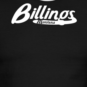 Billings Montana Vintage Logo - Men's Ringer T-Shirt