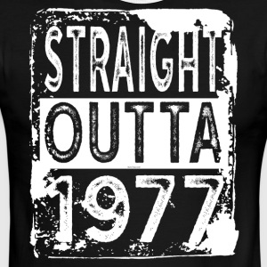 Funny 40th Birthday Gift: Straight Outta 1977 Tee - Men's Ringer T-Shirt