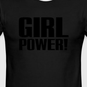Girl Power Logo Black - Men's Ringer T-Shirt