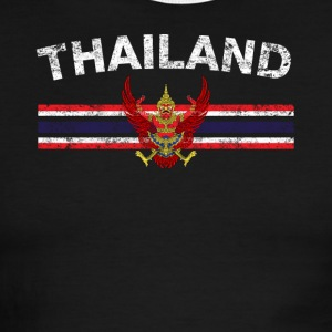 Thai Flag Shirt - Thai Emblem & Thailand Flag Shir - Men's Ringer T-Shirt