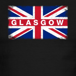 Glasgow Shirt Vintage United Kingdom Flag T-Shirt - Men's Ringer T-Shirt