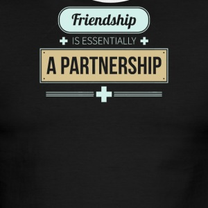 Friendship is essentially a partnership - Men's Ringer T-Shirt