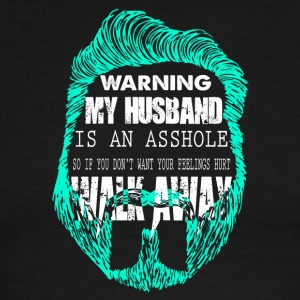 Warning My Husband Is An Asshole T Shirt - Men's Ringer T-Shirt