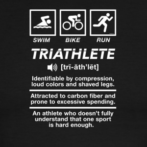 Triathlete Definition Swim Bike Run - Men's Ringer T-Shirt