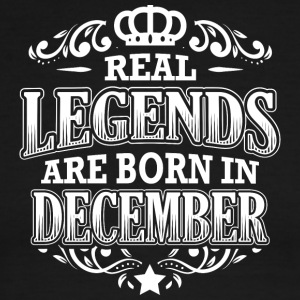 Funny Birthday Shirt Legends Are Born in December - Men's Ringer T-Shirt