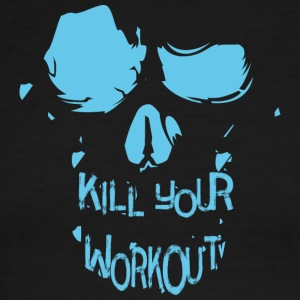 Skull inscription kill your workout - Men's Ringer T-Shirt