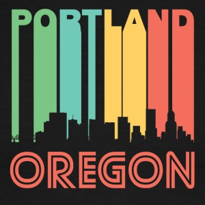 Retro Portland Skyline - Men's Ringer T-Shirt