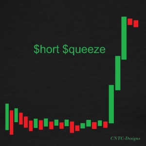 Short squeeze bar graph - Men's Ringer T-Shirt