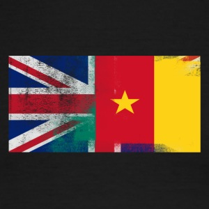 British Cameroonian Half Cameroon Half UK Flag - Men's Ringer T-Shirt