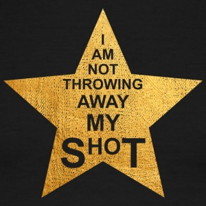I am not throwing away my shot - Men's Ringer T-Shirt